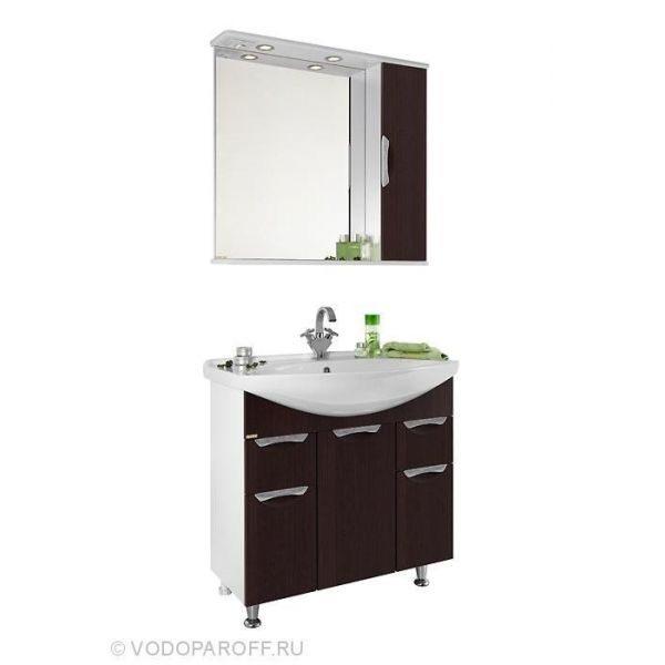 Комплект мебели для ванной комнаты Лира 85 (цвет венге)