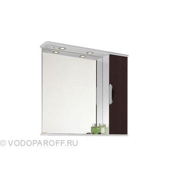 Зеркало для ванной комнаты Лира 85 (цвет венге)