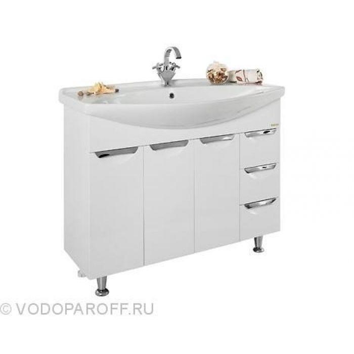Тумба с раковиной для ванной комнаты Лира 105 (цвет белый)