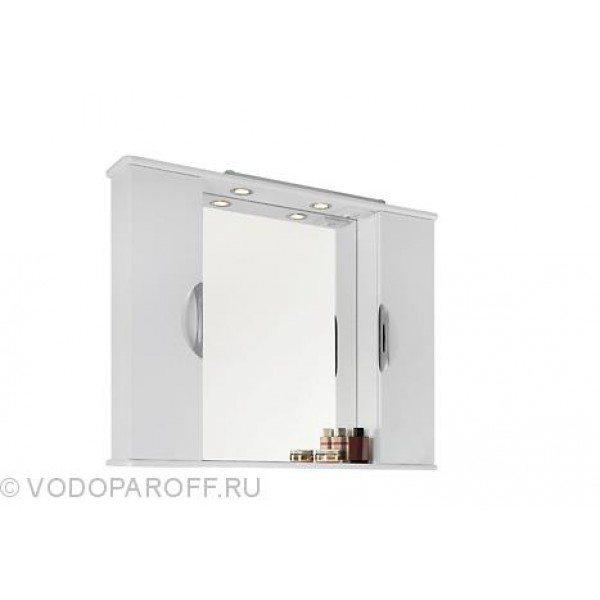 Зеркало для ванной комнаты Лира 105 (цвет белый)
