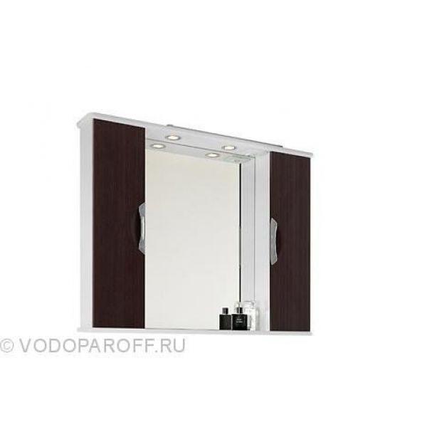 Зеркало для ванной комнаты Лира 105 (цвет венге)