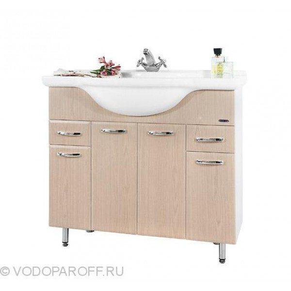 Тумба с раковиной для ванной комнаты Колумбия 95 (цвет дуб)