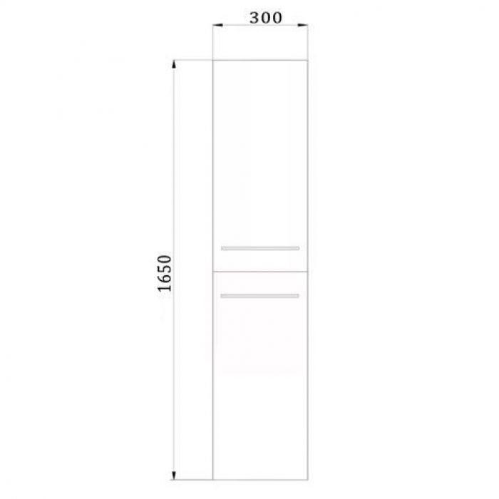 Пенал подвесной для ванной комнаты с корзиной для белья NOVITA Q6 (цвет красный)