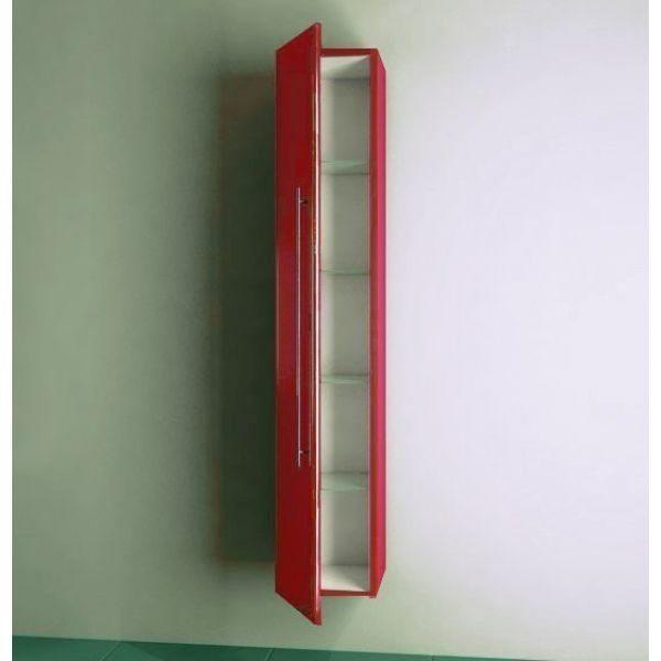 Пенал подвесной для ванной комнаты NOVITA Q10 (цвет красный)