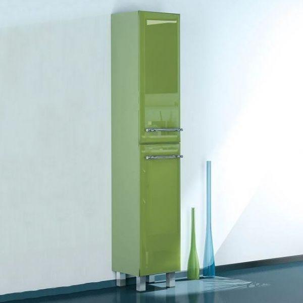 Пенал для ванной комнаты с корзиной для белья NOVITA Q7 (цвет салатовый)