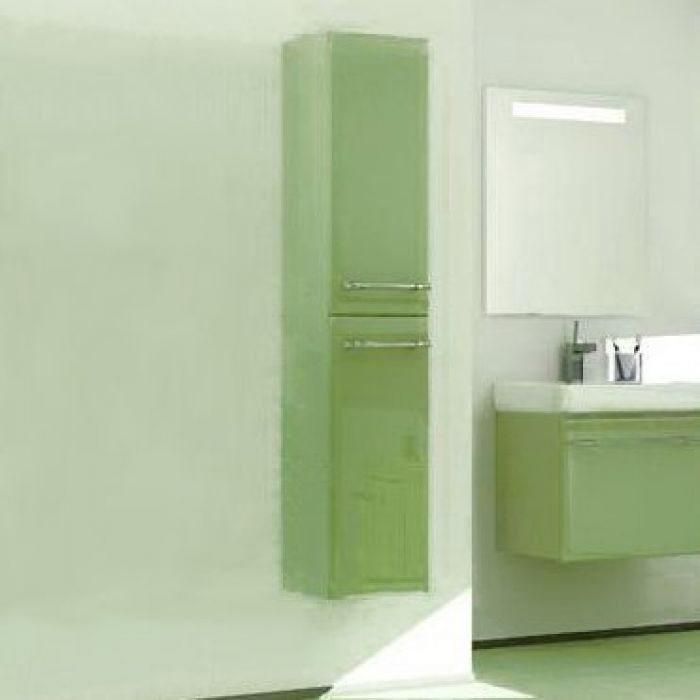 Пенал подвесной для ванной комнаты с корзиной для белья NOVITA Q7 (цвет салатовый)