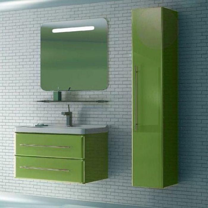 Пенал подвесной для ванной комнаты NOVITA Q10 (цвет салатовый)