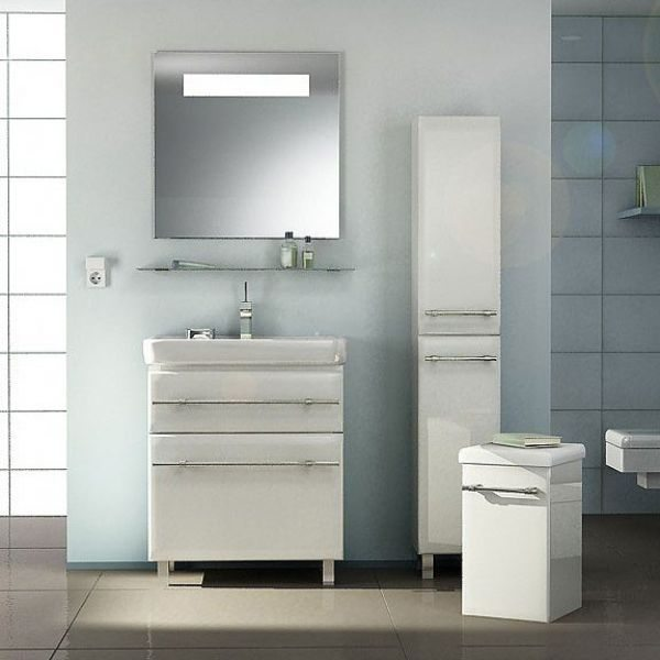 Комплект мебели для ванной комнаты NOVITA Q7 (цвет белый)