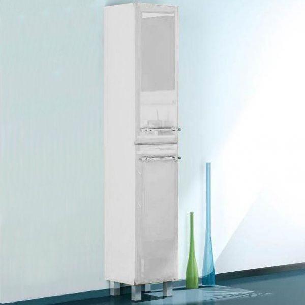 Пенал для ванной комнаты с корзиной для белья NOVITA Q7 (цвет белый)