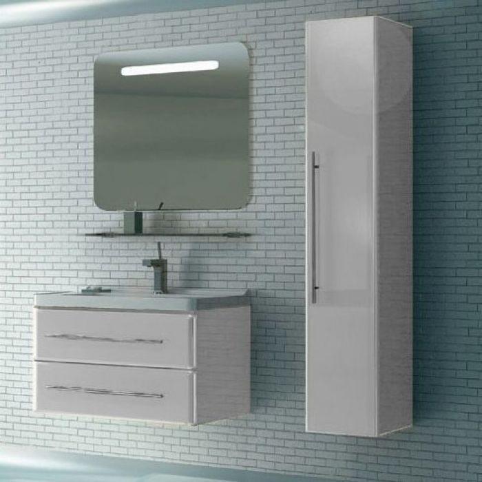 Пенал подвесной для ванной комнаты NOVITA Q10 (цвет белый)