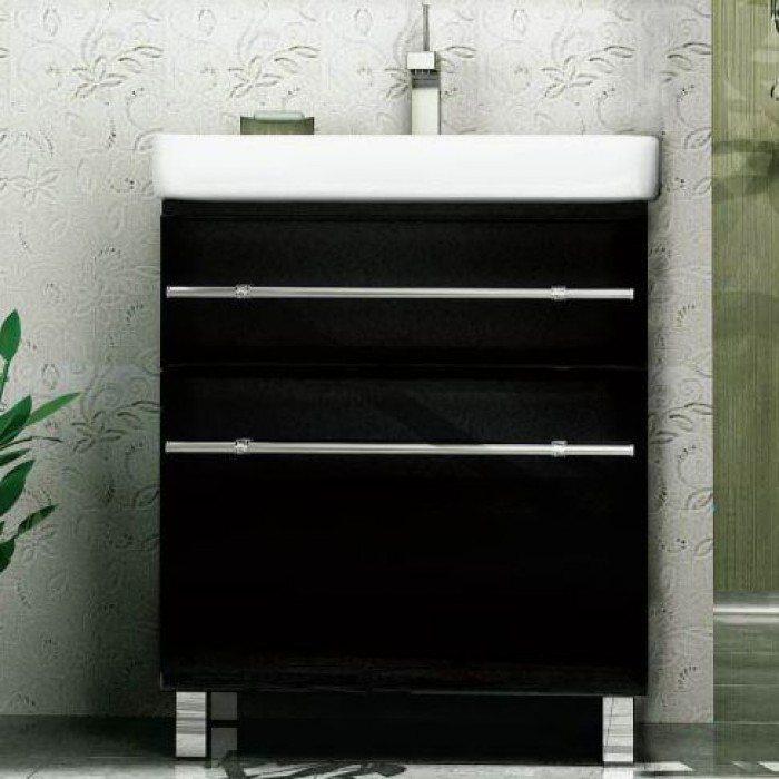 Тумба с раковиной для ванной NOVITA Q7 (цвет черный)