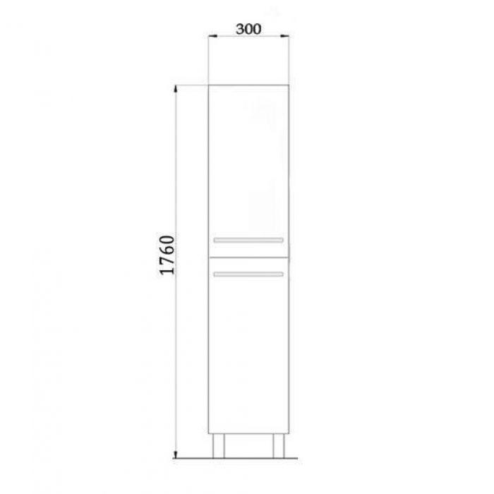 Пенал для ванной комнаты с корзиной для белья NOVITA Q7 (цвет черный)