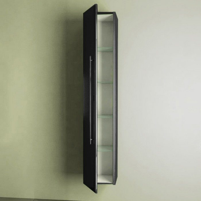 Пенал подвесной для ванной комнаты NOVITA Q10 (цвет черный)