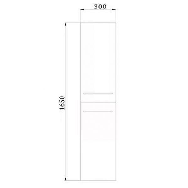 Пенал подвесной для ванной комнаты с корзиной для белья NOVITA Q6