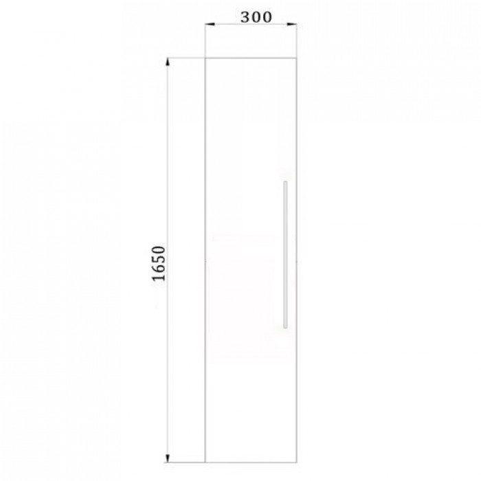 Пенал подвесной для ванной комнаты NOVITA Q10