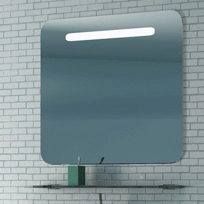 Зеркало для ванной на 85 см NOVITA Q10 с подсветкой и стеклянной полкой