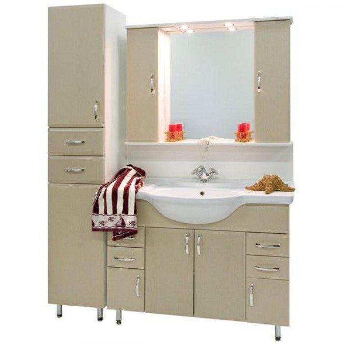 Комплект мебели для ванной комнаты Колумбия 105 с пеналом (цвет дуб)