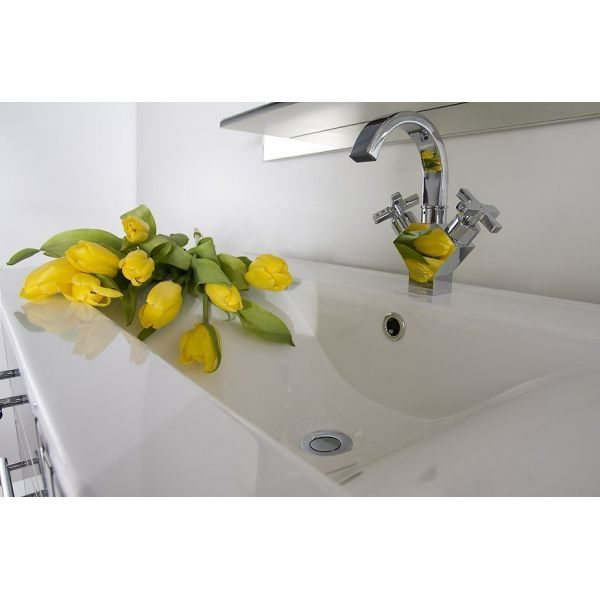 Тумба для ванной Ницца Д 100 Белая с Б/К
