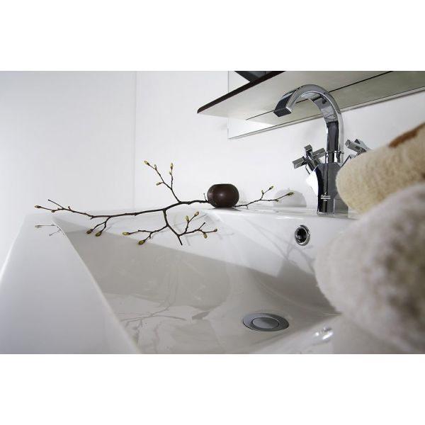 Тумба для ванной Ницца Д 100 чёрный бриллиант с Б/K