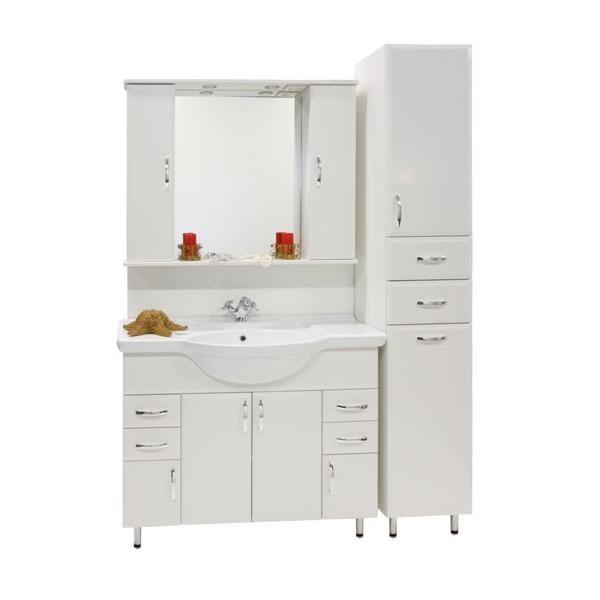 Продажа Комплект для ванной Колумбия 105 с пеналом (цвет белый)