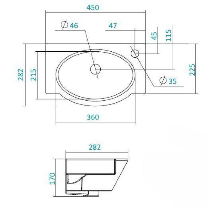 Раковина для ванной на 45 см SANTEK Форум
