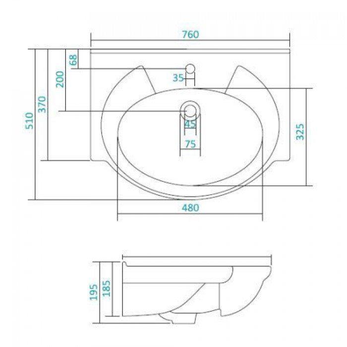 Раковина для мебели SANTEK «Байкал-70»