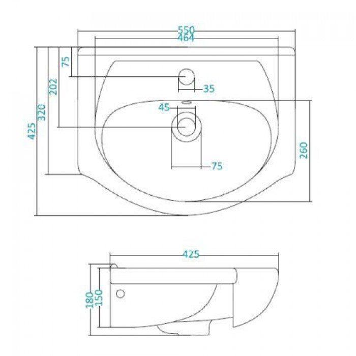 Раковина для мебели SANTEK «Линда-55»