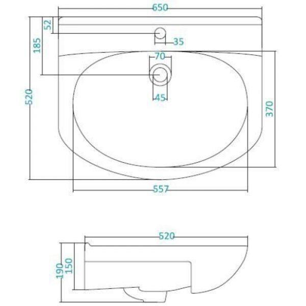 Раковина для мебели SANTEK «Лидия-65»
