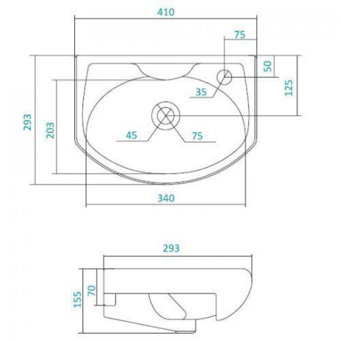 Раковина для мебели SANTEK «Азов-40»