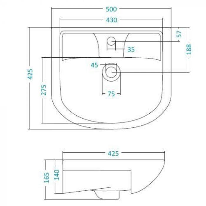 Раковина для мебели SANTEK «Ладога-50»