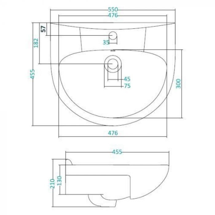 Раковина для мебели SANTEK «Антик-55»