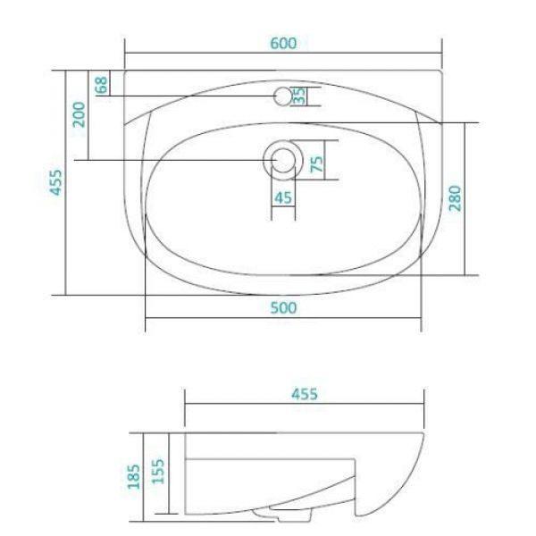 Раковина для мебели SANTEK «Ангара-60»