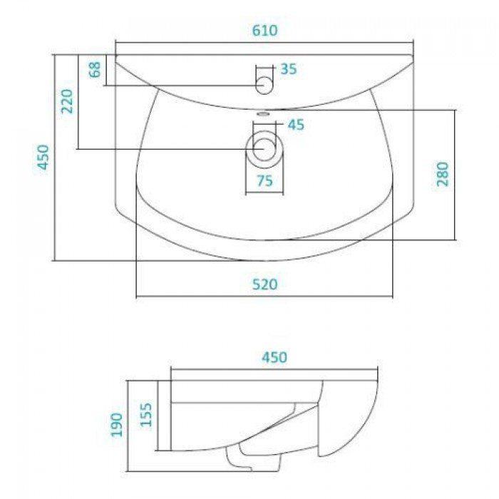 Раковина для мебели SANTEK «Балтика-60»