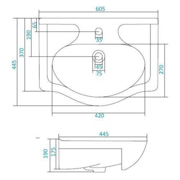 Раковина для мебели SANTEK «Селинер-60»