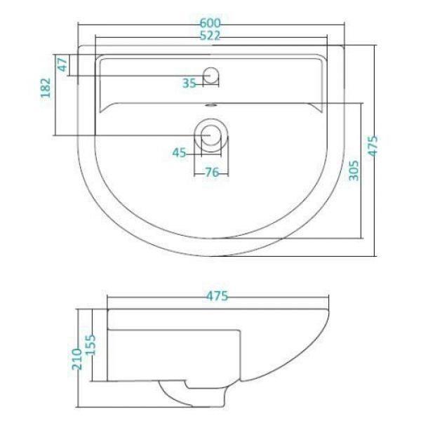 Раковина для мебели SANTEK «Астра-60»