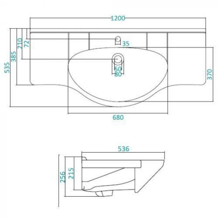 Раковина для мебели SANTEK «Ниагара-120»