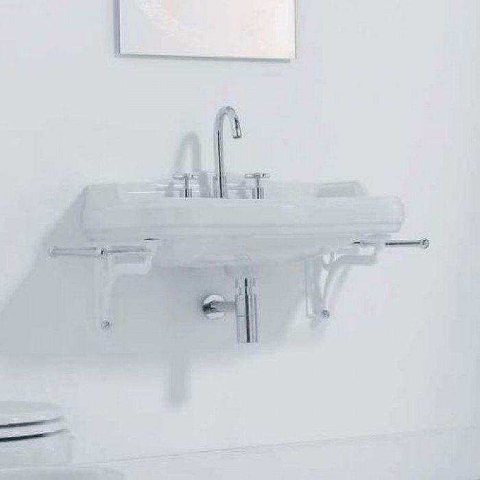 Раковина для ванной на 73 см GSI old antea 563111 с кронштейнами MMA01