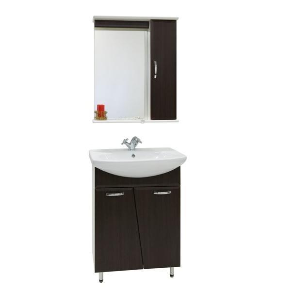 Комплект мебели для ванной комнаты Лагуна (цвет венге)