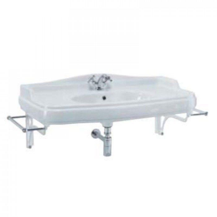 Раковина для ванной на 91 см GSI old antea 564411 с кронштейнами MMA01