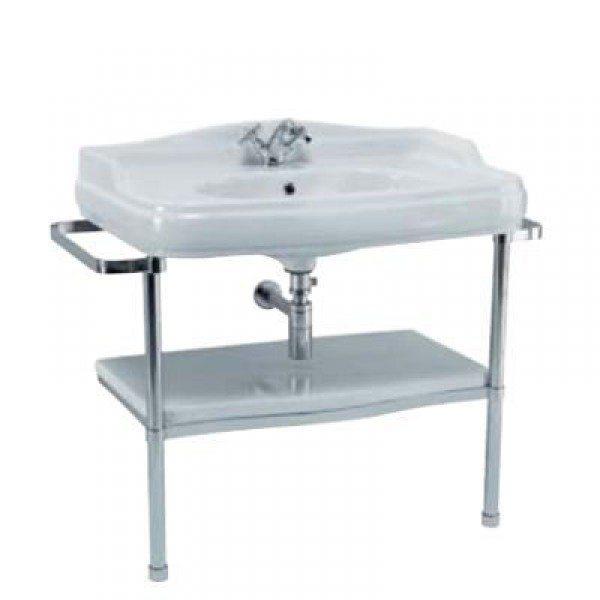 Раковина для ванной на 91 см GSI old antea 564411 с напольной металлической консолью MSA