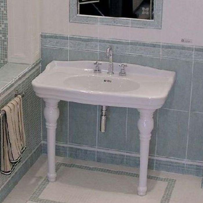 Раковина для ванной на 107 см GSI old antea 564611 на керамических ногах 567211