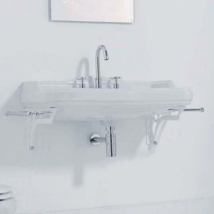 Раковина для ванной на 107 см GSI old antea 564611 с кронштейнами MMA01