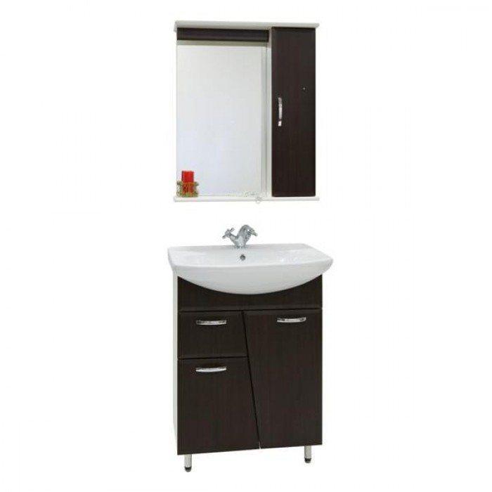 Комплект мебели для ванной комнаты Лагуна 1я (цвет венге)
