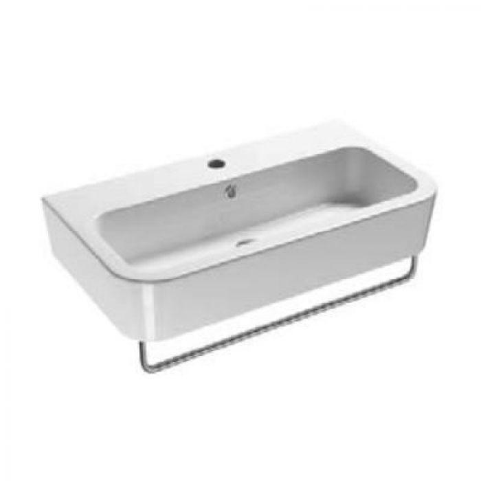 Раковина для ванной на 75 см GSI traccia L 694011 с хромированным полотенцедержателем MMB75C