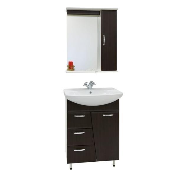 Комплект мебели для ванной комнаты Лагуна 3я (цвет венге)