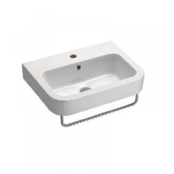 Раковина для ванной на 55 см GSI traccia M 693911 с полотенцедержателем PATF55/PATFB55