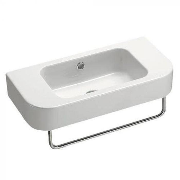 Раковина для ванной на 55 см GSI traccia M 694711 с полотенцедержателем PATF55/PATFB55