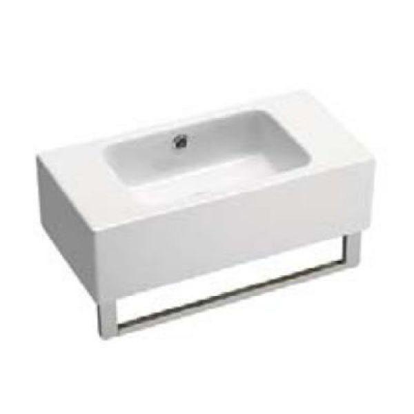 Раковина для ванной на 52 см GSI traccia C 698611 с полотенцедержателем PATQ52
