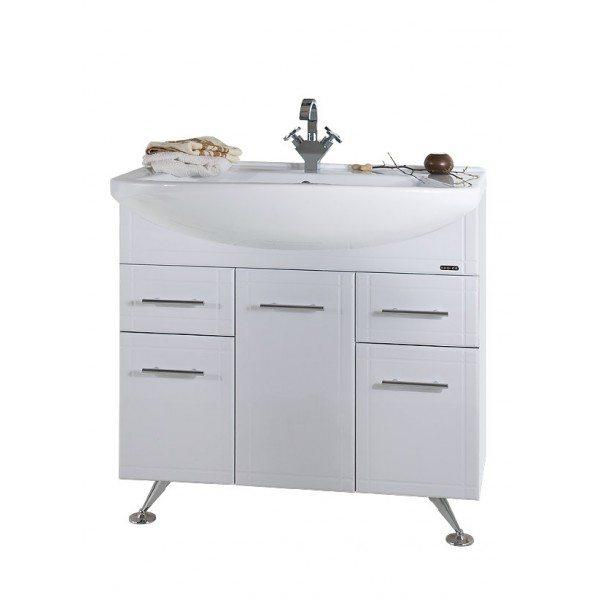Тумба для ванной комнаты Альфа 90 белая