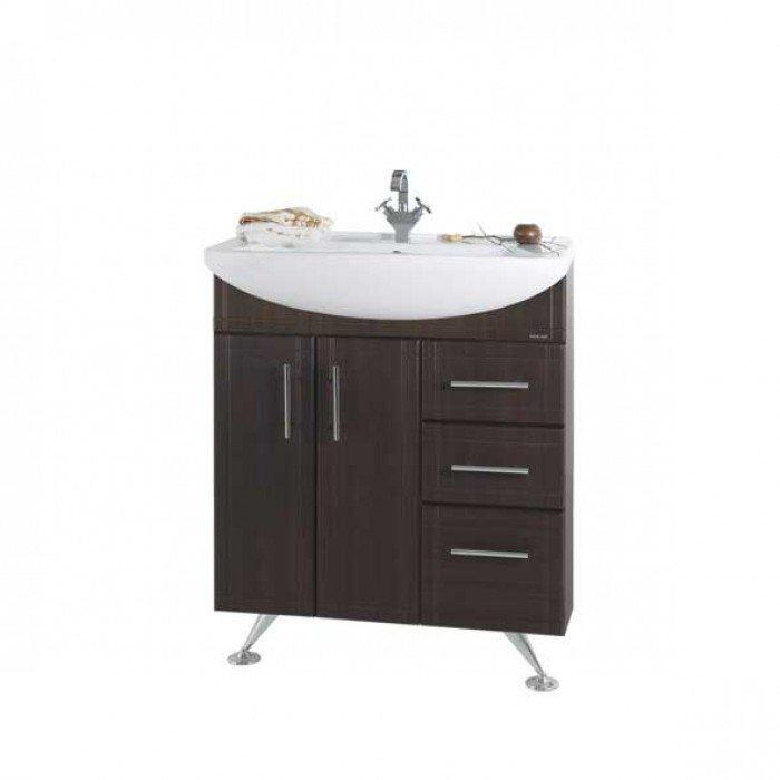 Тумба для ванной Альфа 75 Vod-ok венге